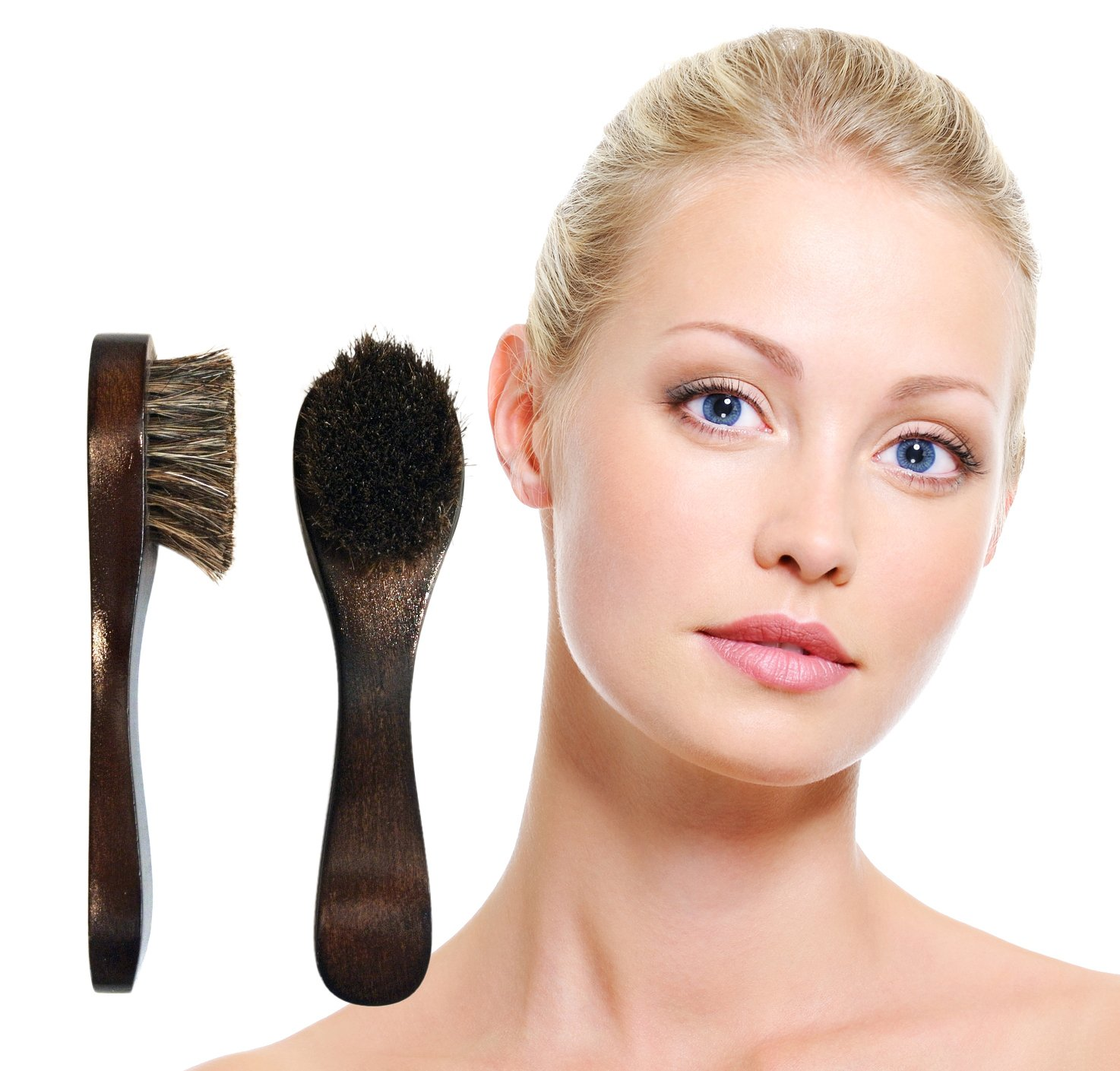Upgraded FACIAL SKIN BRUSHES with Pouch from Sublime, 2 Pack. Now With Softer Bristles. How-To Guide Emailed. Energize Skin, Circulation & Lymphatic System. 100%.