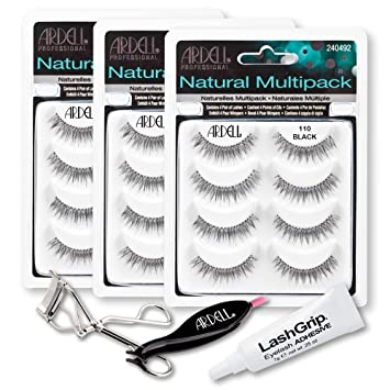 8407c477025 Ardell Fake Eyelashes 110 Value Pack - Natural Multipack 110 (Black, 3-Pack