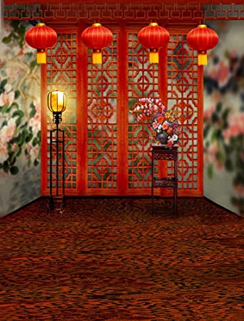 Amazon anamour red carpet hollowout wooden screen chinese anamour red carpet hollowout wooden screen chinese style decoration wedding studio props photography backdrops junglespirit Images