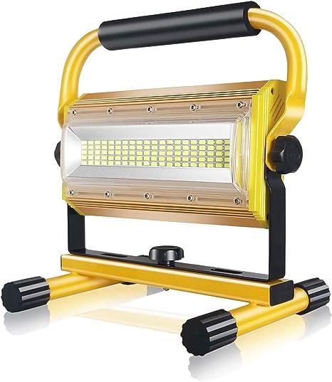 100W Rechargeable Solar LED Light Bulb Portable Emergency Light Built-in Battery