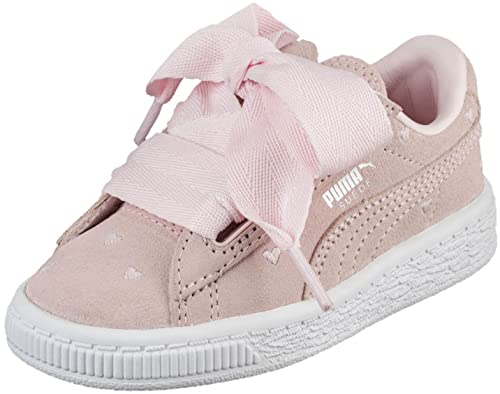91971bb3b8c751 PUMA Kids Baby Girl s Suede Heart Valentine (Toddler) Pearl Pearl 10 M US  Toddler  Amazon.co.uk  Shoes   Bags