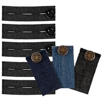 Extension de bouton de pantalon Lot de 5 extensions de pantalon de  grossesse élastiques + 3 9f28491bd8ae