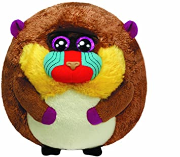 Ty - Peluche bola mono mandril, 15 cm (United Labels 38054TY)