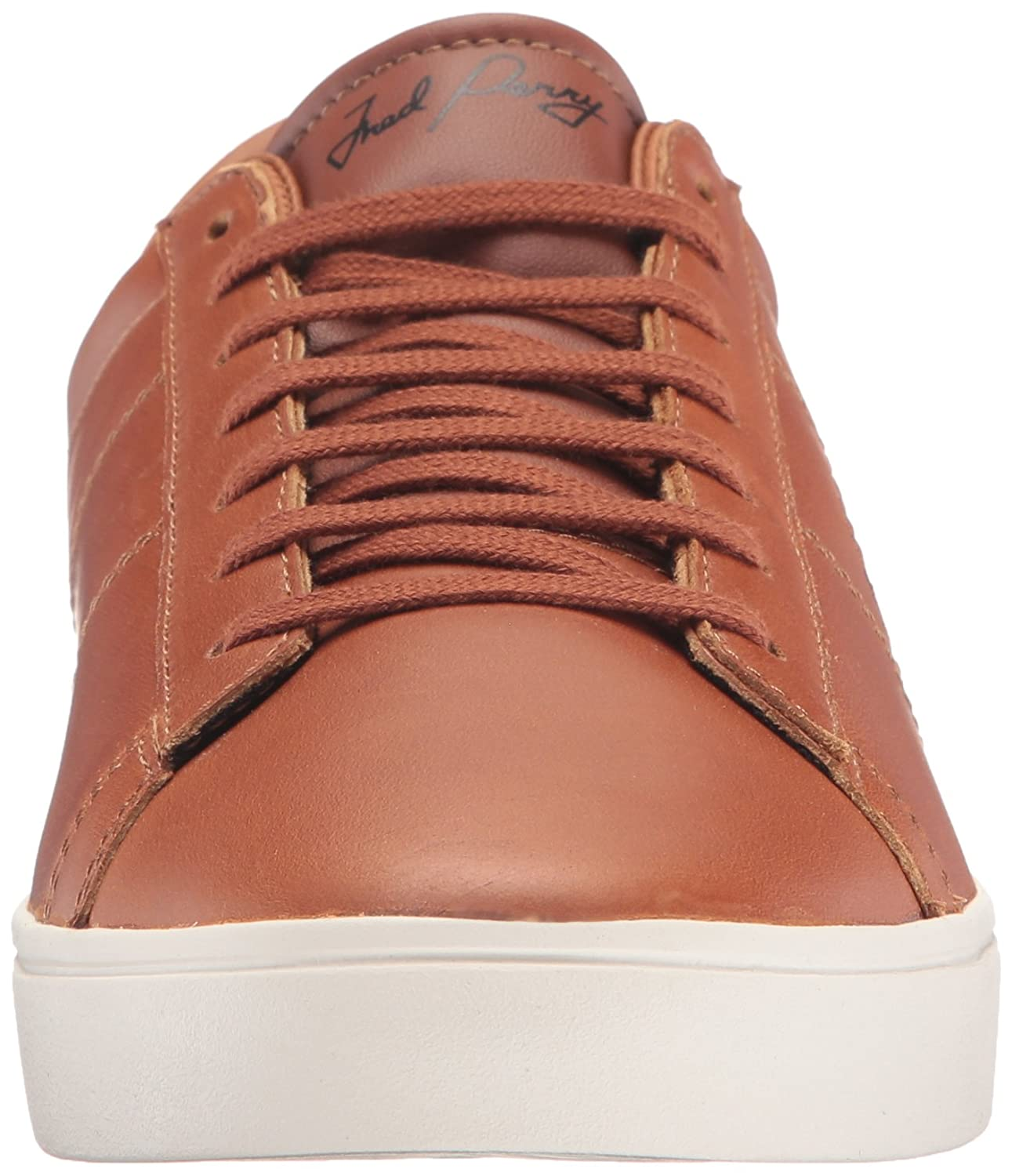 Fred Perry Spencer Waxed Leather Sneaker B06X91C8XN 5 D UK (6 US) Tan