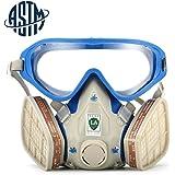 [ASTM]SanSiDo Masque de protection respiratoire complète contre peinture chimique, gaz, poussière, pesticides, incendies avec masques anti poussière