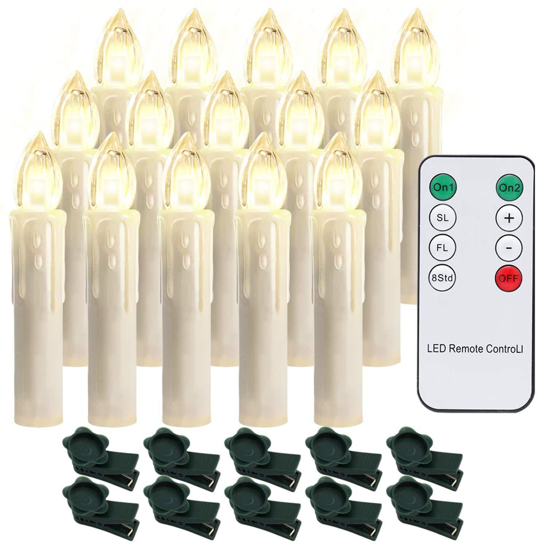 Hengda 40X LED Weihnachtskerzen Kerzen Dimmbar Kerzenlichter Flammenlose f/ür Weihnachtsbaum Weihnachtsdeko Warmwei/ß Geburtstags Party Hochzeit