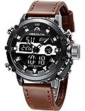 Relojes Hombre Reloj Militar Deportivos Digital Impermeable LED Cronometro Calendario Fecha Electrónico Reloj Grandes de…