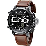 MEGALITH Mens Sports Watches Military Digital Gents Watch Chronograph Waterproof Wrist Watches for Man Boys Kids with Led Bac