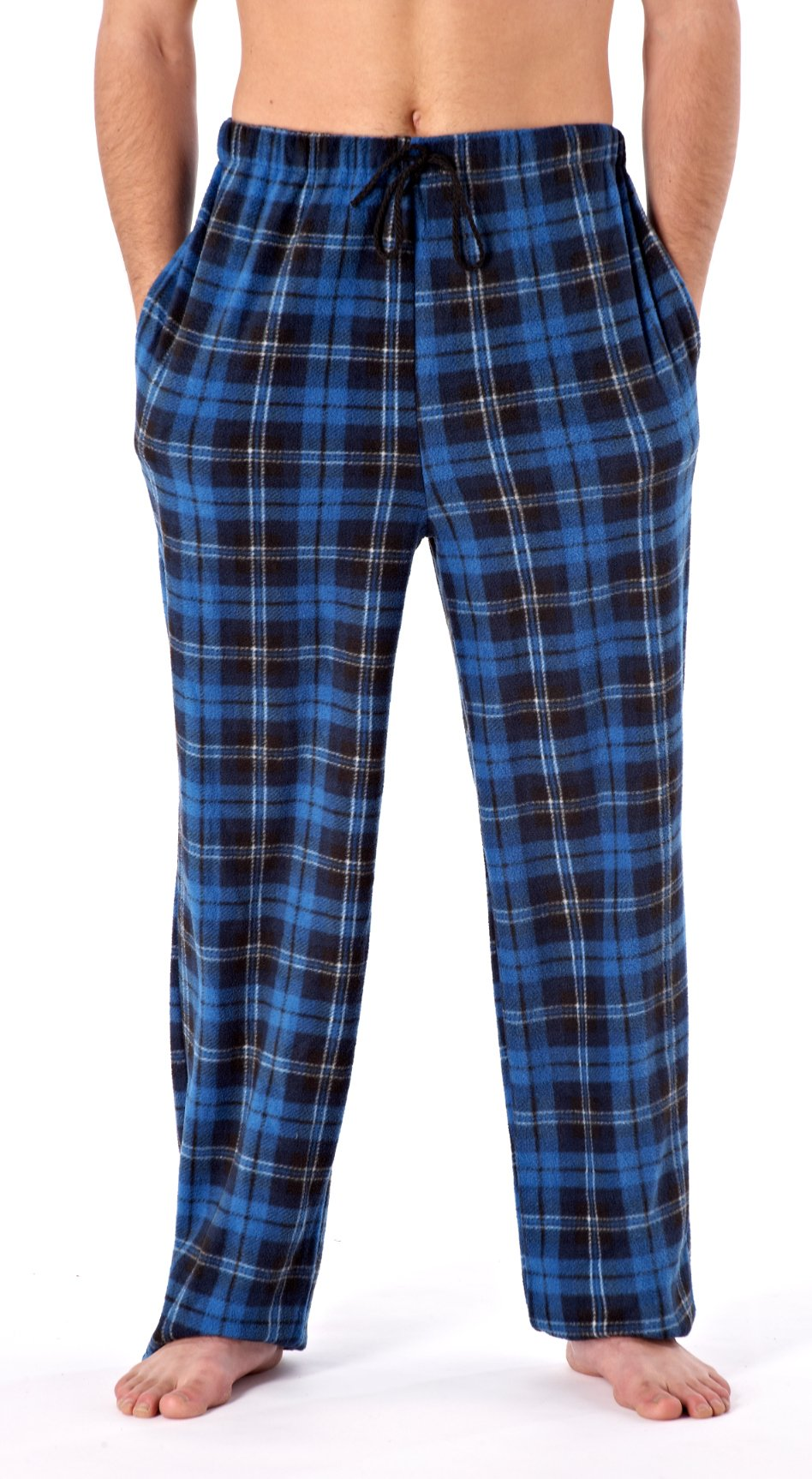 621421a7b8 Harvey James da Uomo Morbida Quadri Pile Pigiama Pantaloni da casa product  image