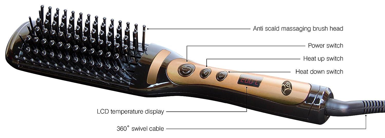 Rio Beauty HBST - Cepillo alisador eléctrico: Amazon.es: Salud y cuidado personal