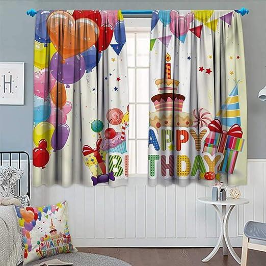 Cortina opaca para cumpleaños con diseño de Anhounine ...