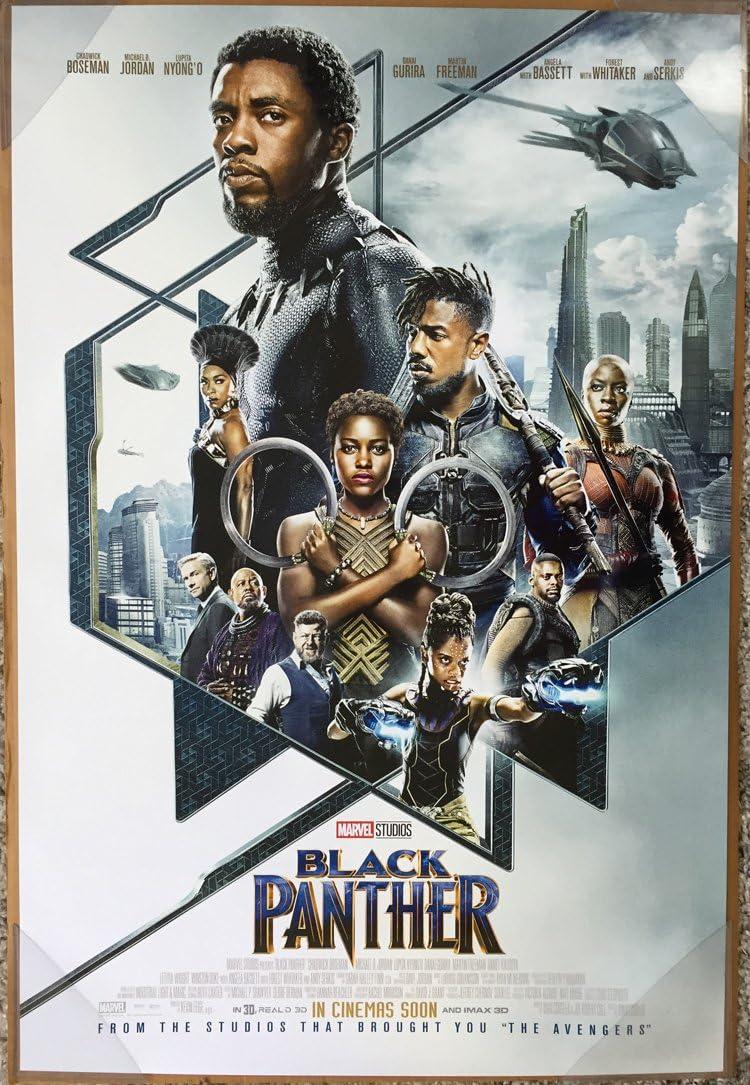 Amazon Com Black Panther Movie Poster 2 Sided Original Intl Final Ver B 27x40 Chadwick Boseman Everything Else