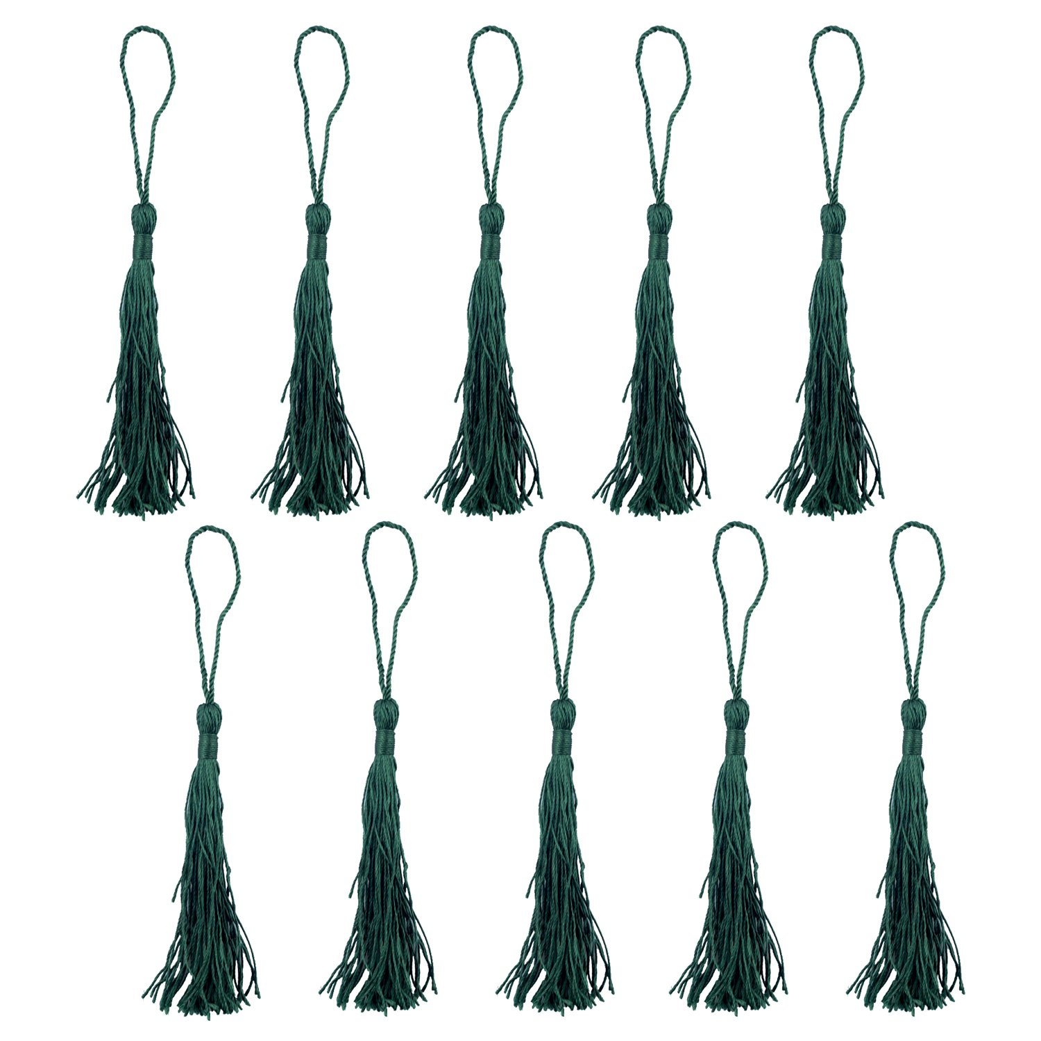 HAND ® Silky Tassels Grey 12cm Long For Craft Embellishments, Purses, Bags, Keyrings etc. Pack of 10