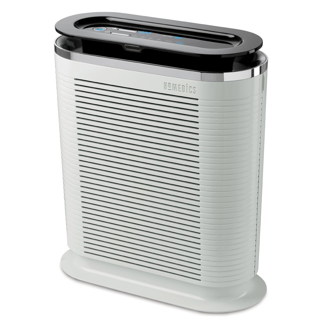 HoMedics HEPA Air Purifier Fan 100 CADR, Keeps Air Fresh, Protects from Allergy Infected Air, Three Cleaning Modes, Eliminates up to 99% of Allergens, Relieve Asthma, Hay Fever, British Allergy Foundation Approved, Remote Control for Simple and Easy Use -