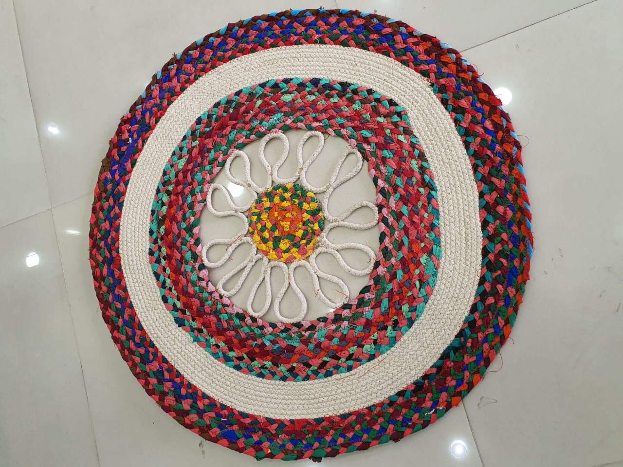 Handicraftofpinkcity Jute Round rug floor rug indian carpet