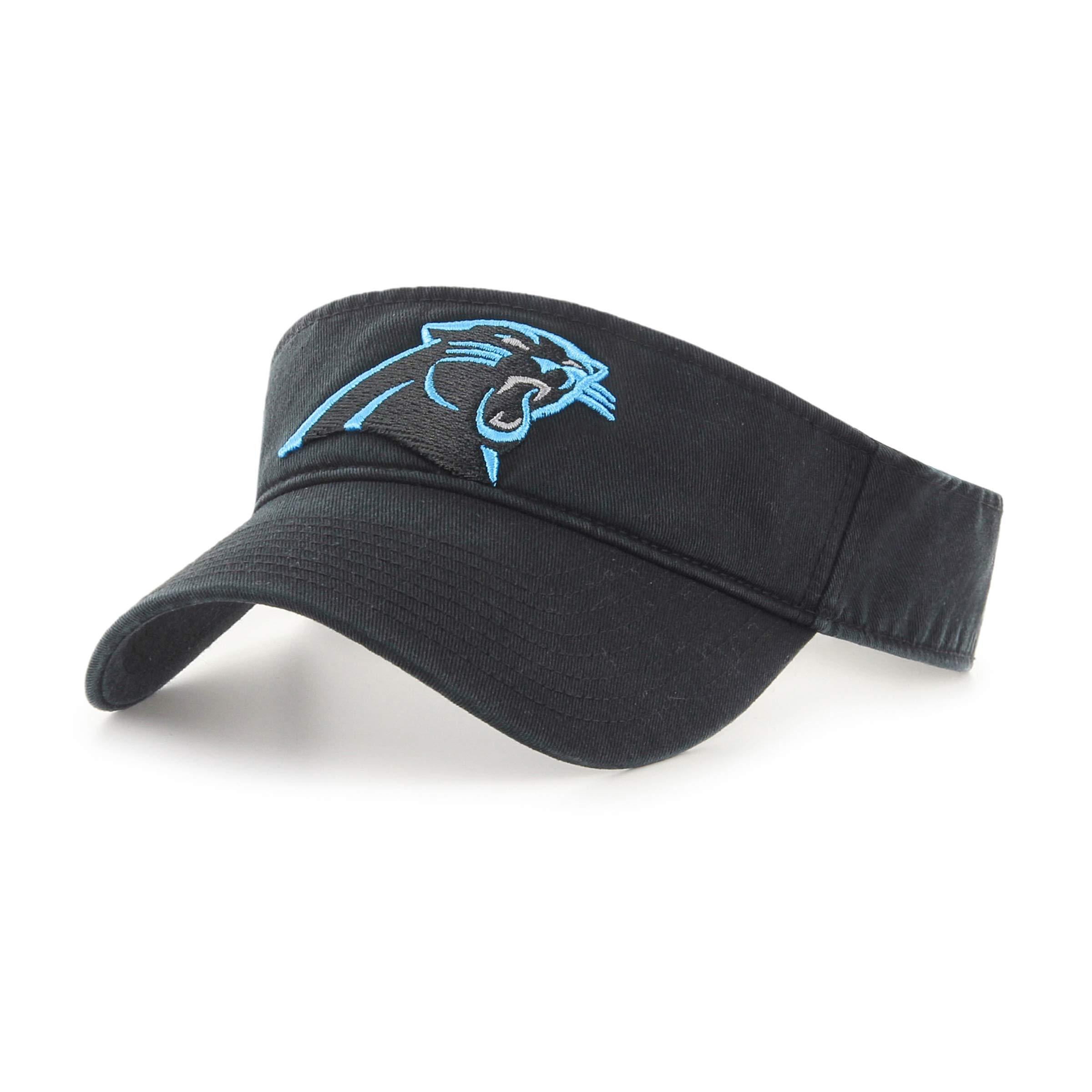 OTS NFL Carolina Pantshers Male Visor, Black, One Size