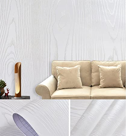 IHomee WhiteSilver Sandalwood Faux Wood Grain Contact Paper For - Contact paper for kitchen countertops