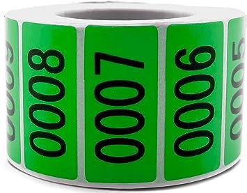 Amazon.com: Green Enzo - Etiquetas adhesivas con números ...
