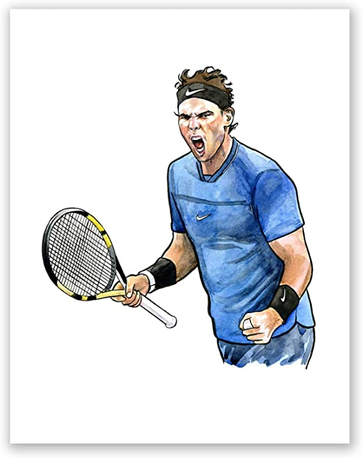 Amazon Com Atozstudio A94 Rafael Nadal Poster Tennis Wall Art Print Home Decor Sport Tennis Star Famous Sportsmen Gift 8x10 Posters Prints