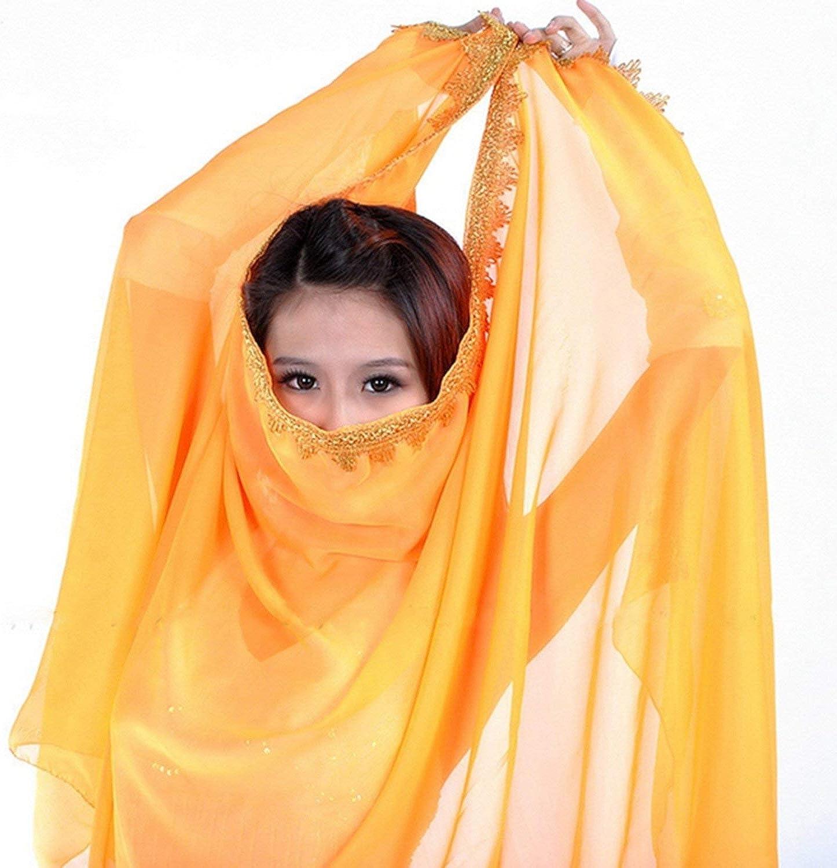 2018 Belly Dance Veil Silk-like Big veil Bollywood Colorful Dancing Scarf Shawl