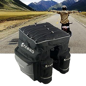 Alforja para bicicleta, 3 en 1, paquete de estante para bicicleta, bicicleta,