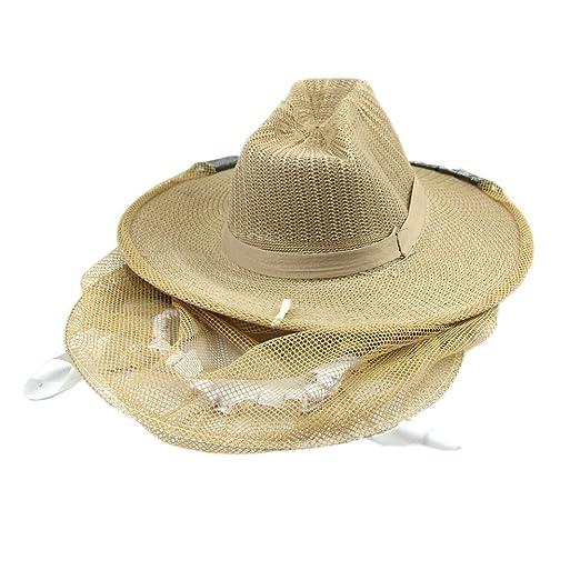 d4d9629da Amazon.com: OULII Beekeeping Garden Guard Cowboy Hat Anti Mosquito ...