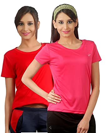 39765df2 Nitrite Sports Round Neck Half Sleeves Womens Performance Tshirts Pack of 2  | NTP20126: Amazon.in: Clothing & Accessories