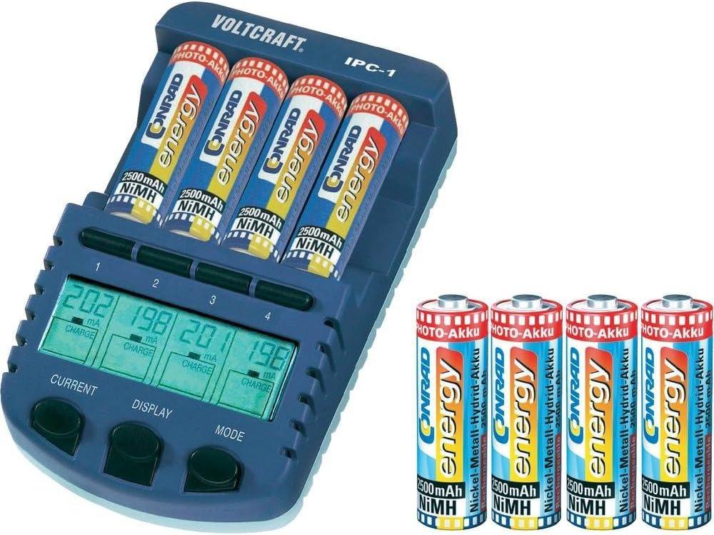 LR03 (AAA), LR6 (AA) Chargeur pour piles rondes VOLTCRAFT