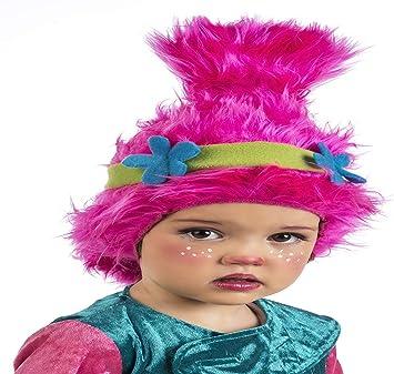 Limit Sport Peluca de Troll Rosa con Flores para niña: Amazon.es ...