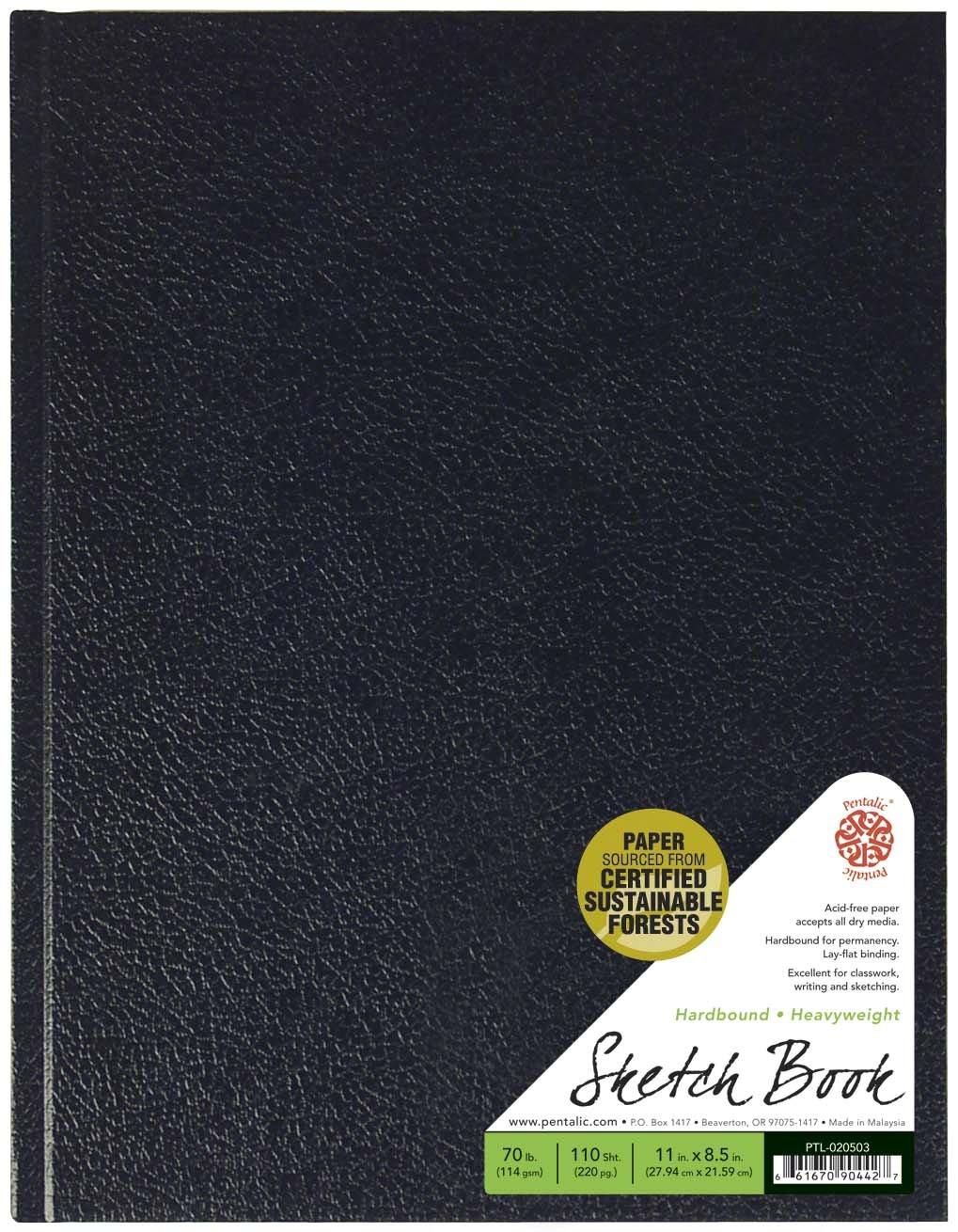 Pentalic Sketch Book, Hardbound, 8-1/2-Inch by 11-Inch by Pentalic