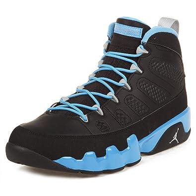 on sale c1e40 2fe3d ... good nike mens air jordan 9 retro slim jenkins black matte silver blue  leather basketball 5d43e