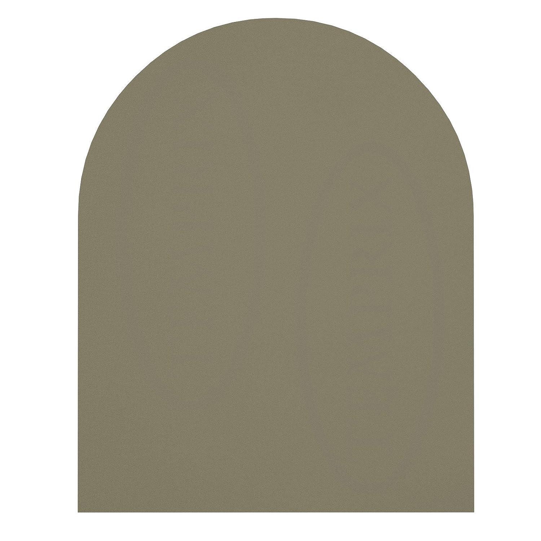 Temprix Ofen   Kaminbodenplatte   Glasplatte für Kaminöfen   Funkenschutzplatte   Form A2 (Stahl grau) - Größe 1100 x 1000 x 2 mm   Ofenplatte für Kamin   Größte Auswahl an Kaminofenplatten