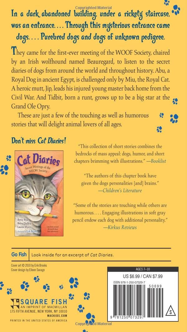 Amazon com: DOG DIARIES (9781250073297): BETSY BYARS: Books