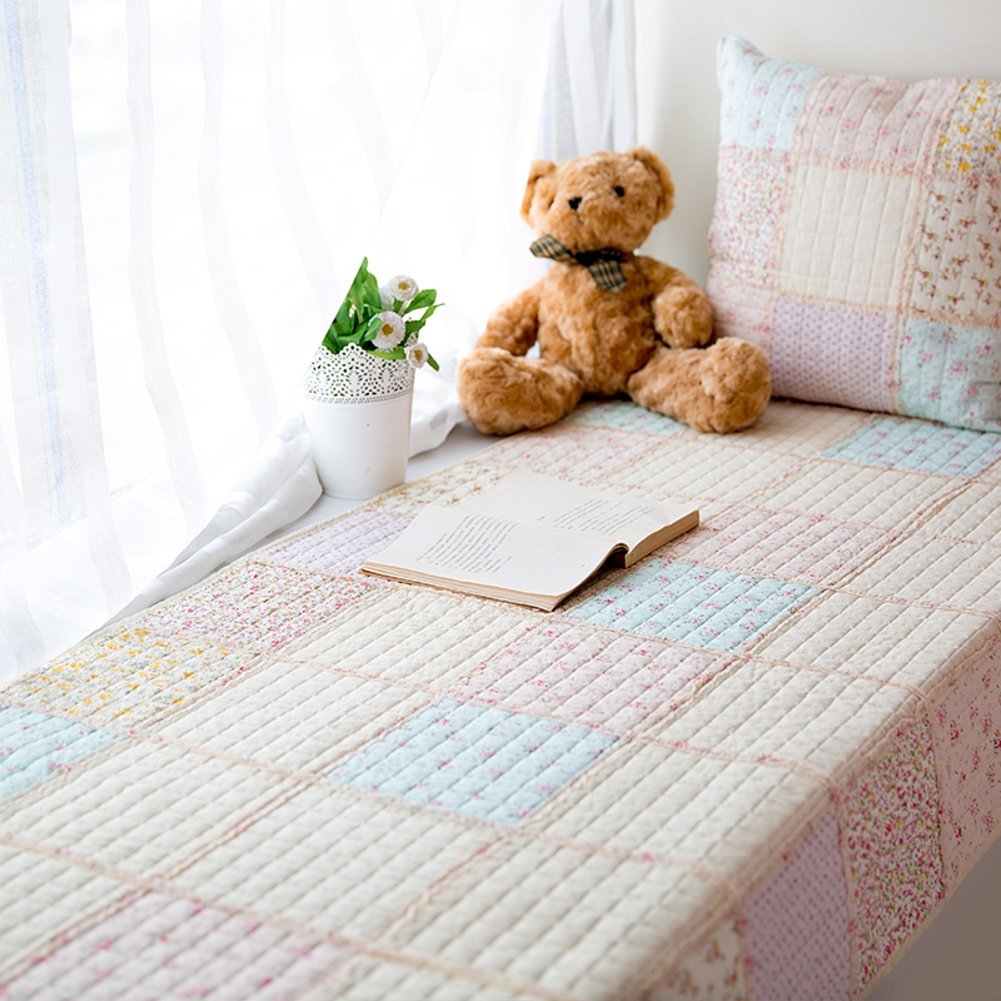 GX&XD Cotton Stitching Bay Window Cushion,Non-Slip Window Sill Mat Fashion Tatami Handwork Quilting Cushion Sofa Cushion Cover Floor Mat-B 70x180cm(28x71inch)