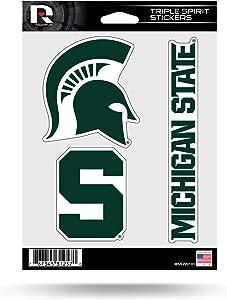 NCAA Triple Spirit Stickersncaa Triple Spirit Stickers, Red, White, Black, 3 Team Stickers
