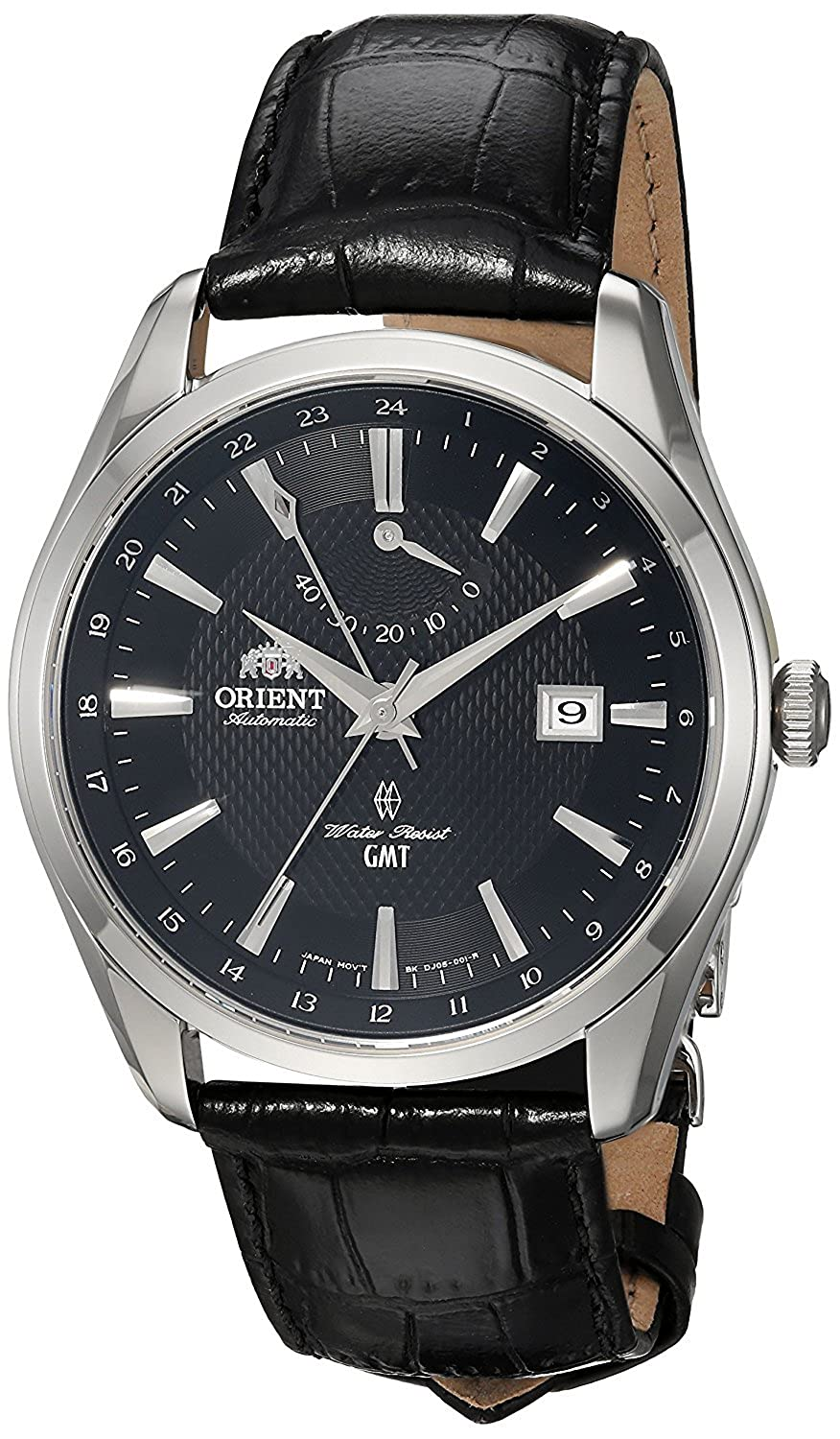 [オリエント]Orient 腕時計 'Polaris GMT' Japanese Automatic Stainless Steel and Leather Dress FDJ05002B0 メンズ [並行輸入品] B0783PJSV4