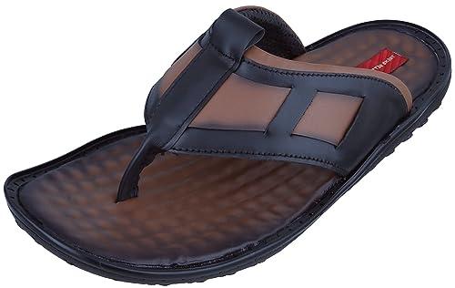 09a85b1aab9f1f Marshal Men s Tan Genuine Leather Big Size Casual Chappal Slipper 11 Size UK