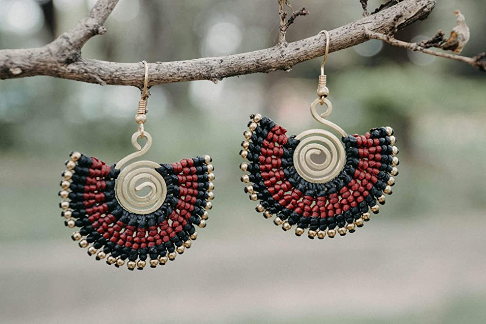 Hypoallergenic Earrings Small arrowhead Earrings Black Arrowhead Boho Earrings Unique Stud Earrings Womens Boho Jewelry