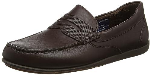 Rockport Men Bennett Lane 4 Penny Loafers, Brown (Brown Leather), 115 UK