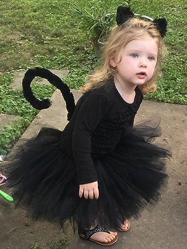 Black Cat Tutu Costume - Toddler  sc 1 st  Amazon.com & Amazon.com: Black Cat Tutu Costume - Toddler: Handmade