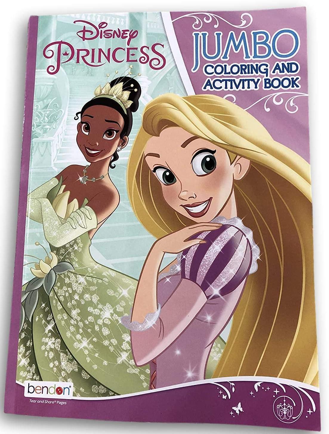 Bendon Disney Princess Jumbo Coloring and Activity Book with Princess Tiana and Ariel