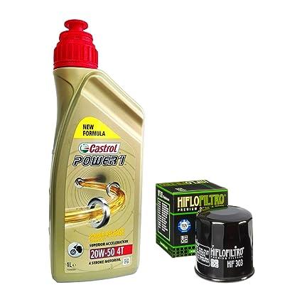 Kit Tagliando 3L Castrol Power 1 20 W50 Filtro Aceite ...