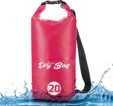 Bluefringe 2L Waterproof Dry Bag with Top Buckle and Adjustable Shoulder Straps Roll Top Dry Compression Sack Keeps Gear Dry Fishing Hiking Camping for Boating Outdoor Sports
