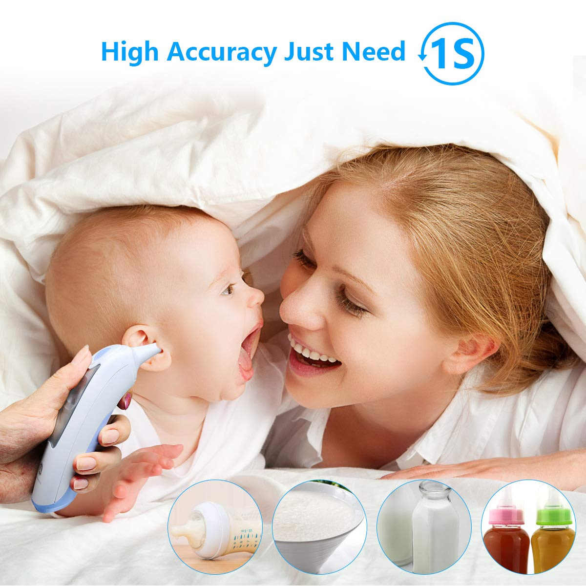 Baby Ear Thermometer for Fever Gland Medical Digital Ear Thermometer for Baby, Infants,Toddlers, and Adults FDA Approved by GL Gland Electronics (Image #4)