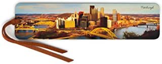 product image for Pittsburgh Skyline - Color Wooden Bookmark with Suede Tassel