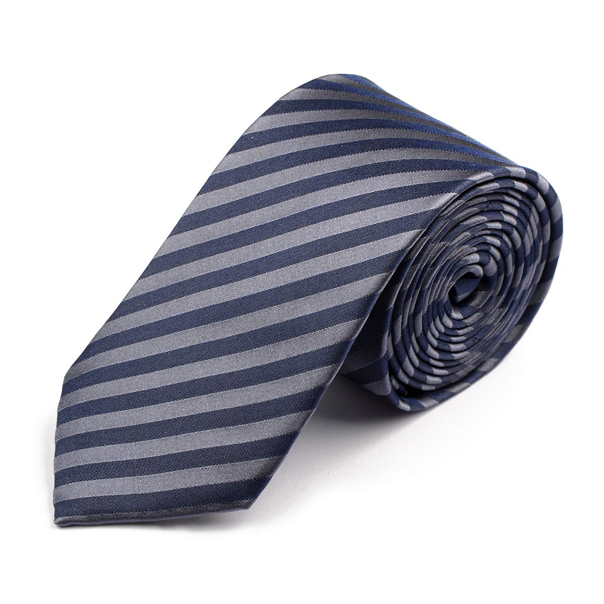 Venti Corbata Extra Larga Rayada en Azul Marino, One Size:One Size ...