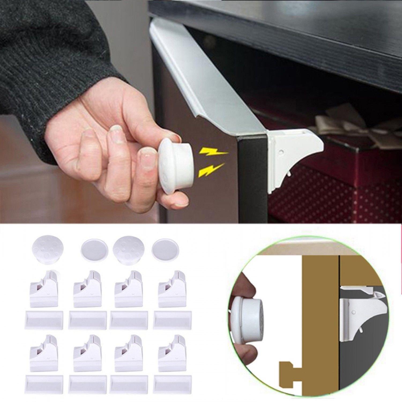 JOYOOO Cerraduras magnéticas de Bloqueo de Seguridad Para Bebés y ...