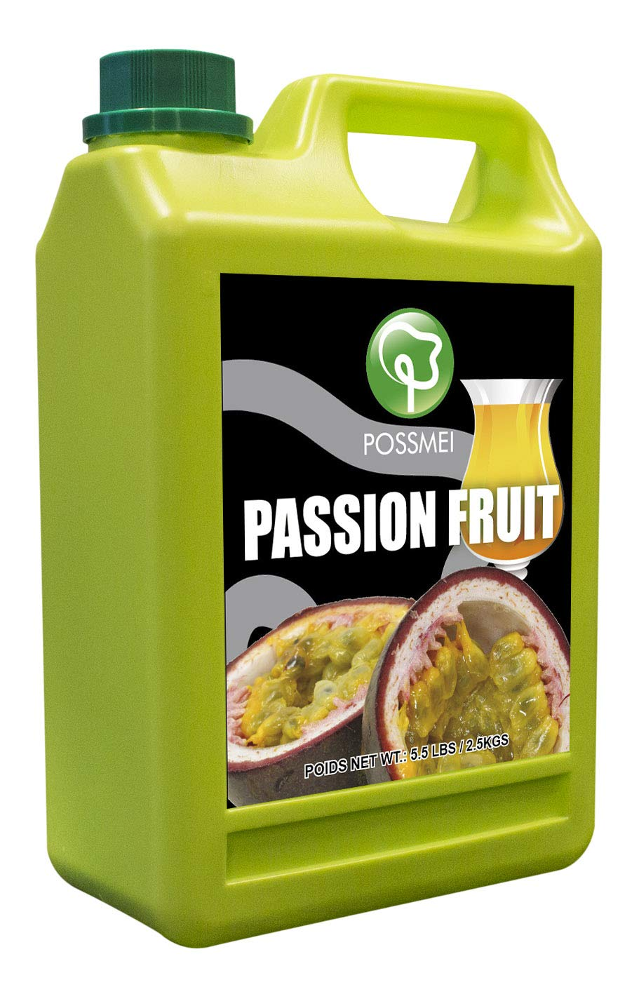Possmei Flavored Syrup, Passion Fruit, 5.5 Pound