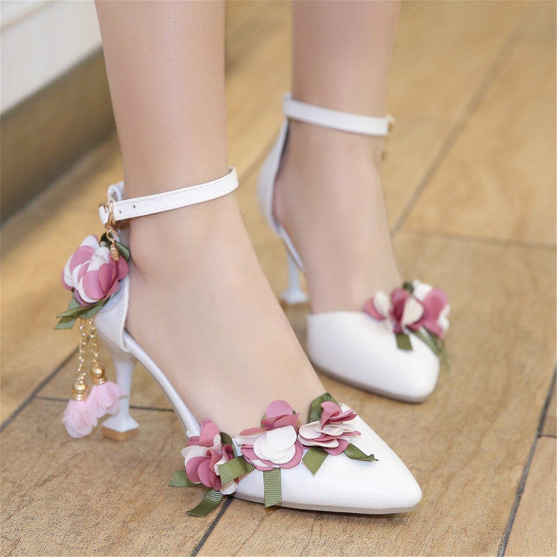 YU/&XIN-Spring and Autumn Womens Shoes Summer Pu sharp pointed high-heeled shoes with womens party sandals.