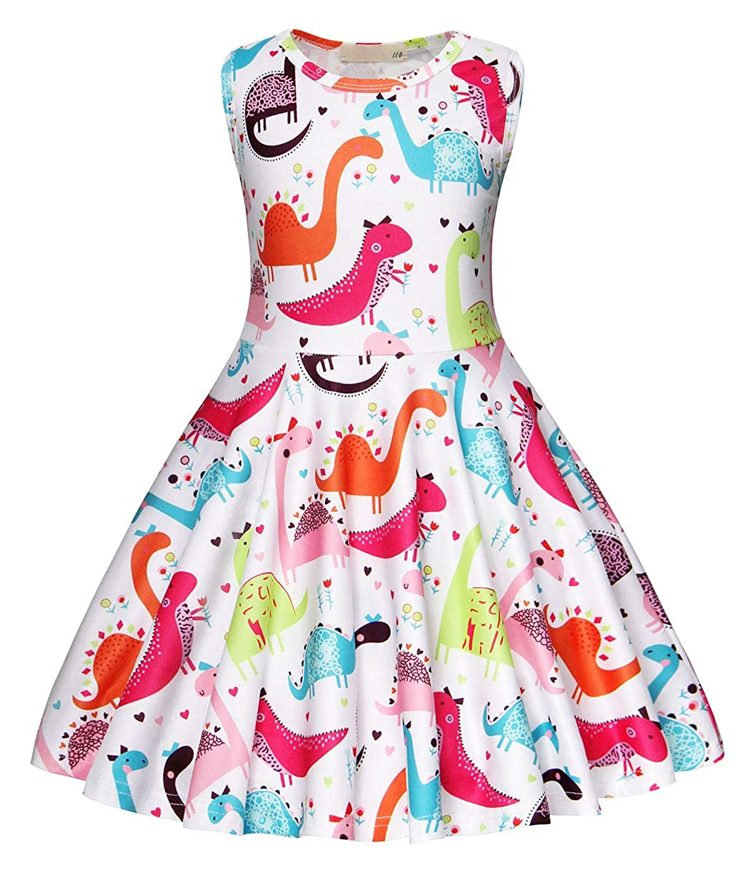 4247f84ed369 Stunning girls dinosaur dress pageant formal dance wedding party casual  dress. Cartoon dinosaur animal printed, knee-length,casual style, easy to  wear and ...